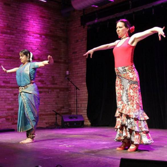 """Red Sun"" – choreography and performance by Tara Weatherly and Suchitra Sairam"